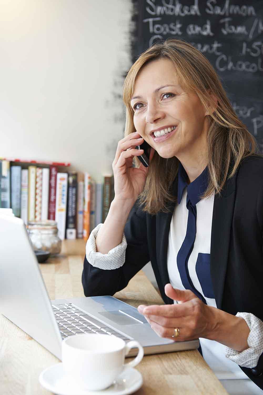 Businesswoman Talking On Mobil